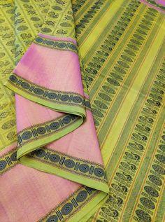 Neon Green Kanchi Silk Cotton 1000 Butaa With Running Blouse Whatsapp Messenger, Cotton Silk, Neon Green, Sarees, Running, Elegant, Blouse, Fashion, Classy