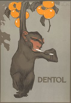 "By Aleardo Terzi (1870 -1943, It.),  Dentol. From ""Ricordi Portfolio"" a serie of greatest Italian posters printed between 1895 & 1914."