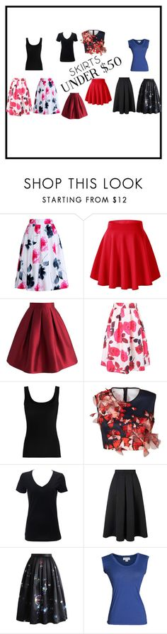 """""""Skirts Under $50"""" by alindsey2021 on Polyvore featuring Relaxfeel, Chicwish, WithChic, Twenty, Clover Canyon, Miss Selfridge, Velvet by Graham & Spencer, under50 and skirtunder50"""
