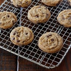 Chewy chocolate chip cookies, with a gluten free option
