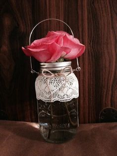 Set of three hanging jars by CountryCliche on Etsy