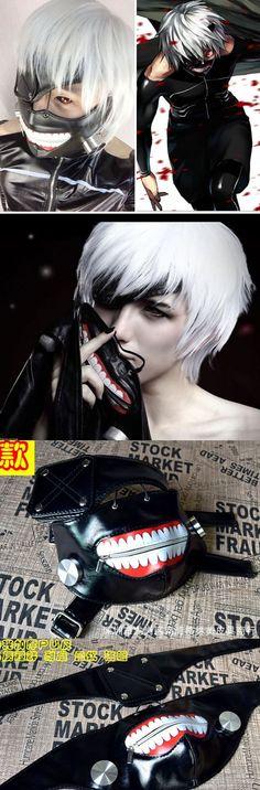 Kaneki Ken New Tokyo Ghoul Cosplay Adjustable Mask Price: US $9.99 Shipping: FREE  http://www.ebay.com/itm/New-Tokyo-Ghoul-Kaneki-Ken-Adjustable-Masks-Cosplay-Mask-Halloween-Party-Prop-/301699242771?hash=item463ead1b13