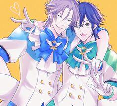 Binan Koukou Chikyuu Bouei-bu Love! Love! - Yufuin En & Kinugawa Atsushi by S on pixiv