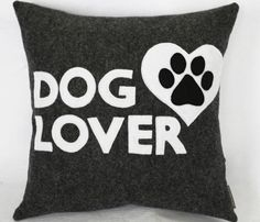 Dog Lover Decorative Pillow - Eco Friendly on Etsy, $27.00