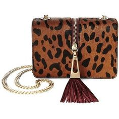 B Brian Atwood Animal Printed Chainlink Crossbody Bag