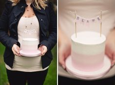 """Sweet way to announce the chosen name for baby via maternity photos. I think this is softer than the typical wooden-block-on-belly, at any rate. Photo by Gabriel Ryan Photographers found via """"On to Baby."""""""