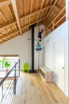 A simple refined calming space that creates a Fun House Indoor Climbing Wall, Cool Bedrooms For Boys, Japanese Style House, Room Planning, Home Renovation, Interior Design Living Room, Building A House, Diy Home Decor, Home Goods