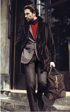 Masculine & Elegance - Brioni | Men's Outfit for Fall/Winter | Men's Fashion & Style. Shop Menswear, Men's Clothes, Men's Apparel & Accessories at designerclothingfans.com