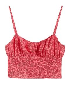 Smock Back Top in Red Floral Trendy Tops, 7 And 7, Smocking, Floral Tops, Camisole Top, Tank Tops, Fabric, Red, Women