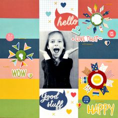 Happy - Scrapbook.com - Use washi and stickers to create your own embellishments.