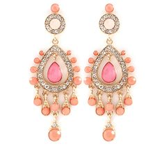 Leontine Chandelier Earrings in Blush