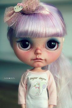 Violet custom Blythe art ooak doll by Jodiedolls by Jodiedolls