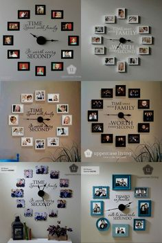 40 Unique Wall Decor Ideas With Clocks - Wand Dekoration Unique Wall Decor, Diy Wall Decor, Entryway Decor, Home Decor, Clock Decor, Diy Wand, Room Decor Bedroom, Living Room Decor, Dorm Room