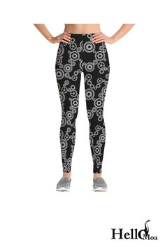 Designed with premium high quality material, Light-weight, flexible and move with you every step. Steampunk Leggings, Reduce Hips, Steampunk Gears, Going Crazy, Casual Wear, Custom Made, Compliments, Stylish, Fabric