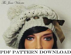 Tam Knitting PATTERN, Elemmire Lamhainn, PDF DOWNLOAD