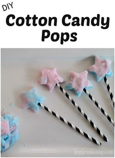 DIY Cotton Candy Pops