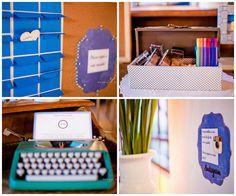decoração - cantinho de recados - recado aos noivos - instagram - máquina de escrever