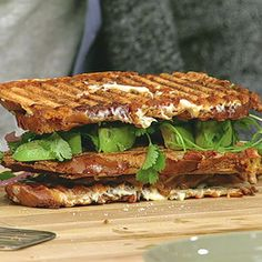 Michael Symon - The Chew - spicy pulled pork sauce - Triple Decker Spicy Pulled Pork Grilled Cheese