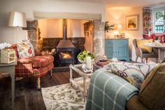 LIVING ROOM Sojourn luxury self-catering cottage on Dartmoor, luxury self-catering home stay on Dartmoor in Drewsteignton Decor, Interior, Home, Cottage Decor, Country Cottage Decor, House Interior, Cottage Living Rooms, Cottage Living, Luxury Cottage