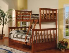 Walnut Finish Wood Twin Over Full Size Convertible Bunk Bed Kings Brand Furniture,  HOME DÉCOR if you wish to buy just CLICK on AMAZON right HERE http://www.amazon.com/dp/B009G237CQ/ref=cm_sw_r_pi_dp_k.4Wsb1D9P8TRRQW