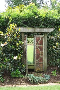 Faux garden gate, it's mirrored!