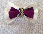 The Tara - Ivory and Berry with metallic leopard!