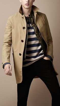 5a050391776 Burberry - DIAMOND QUILTED WARMER RAINCOAT Burberry Trench Coat Men