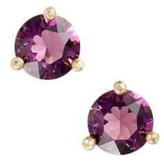 Women's Kate Spade New York 'Rise And Shine' Stud Earrings ($38) ❤ liked on Polyvore featuring jewelry, earrings, amethyst, kate spade, kate spade jewelry, kate spade earrings, sparkly earrings and sparkle jewelry