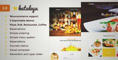 Download and review of Kataleya - Restaurant Pizza Coffee WordPress Theme, one of the best Themeforest Entertainment themes