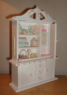 dollhouse miniature quilters cupboard