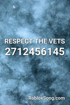respect the vets roblox id