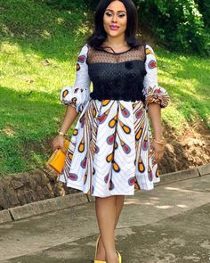 Glittering Ankara Short Gown Styles for Beautiful Ladies; Ankara and Lace Combination.Glittering Ankara Short Gown Styles for Beautiful Ladies; Ankara and Lace Combination African Print Dresses, African Print Fashion, Africa Fashion, African Fashion Dresses, African Attire, African Wear, African Women, African Dress, Ankara Fashion