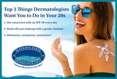You might feel invincible in your 20s, but your skin isn't. Your skin is still youthful now, so enjoy it, but don't forget to take care of it. Here are the top three things dermatologists wish our 20-something patients did every day.