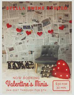 Valentines Minis inspiration, photoshoot, mini sessions