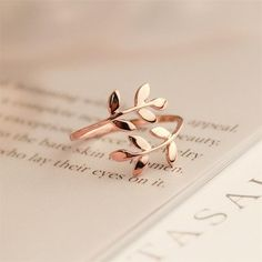 Charms Two colors Olive Tree Branch Leaves Open Ring for Women Girl Wedding Rings Adjustable Knuckle Finger Jewelry Xmas - women gold rings Cute Jewelry, Jewelry Rings, Silver Jewelry, Jewelry Accessories, Jewelry Design, Women Jewelry, Silver Ring, Jewelry Ideas, Silver Earrings