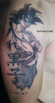 Tatuaje Son Goku - Tattoo Dragon Ball by curi222.deviantart.com on @deviantART
