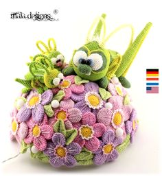 Diese Anleitung beeinhaltet die Beschreibung für die im Artikelbild dargestellten Grashpüpfer (groß und klein)und die unterschiedlichen Blumen und Blätter Der große Grashüpfer wird nach...