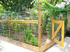 Keep Animals Out DIY Vegetable Garden Fence Garden Gates Garden Wall House Tour: Greg And Laura's Space Maximizing Bungalow Garden Privacy, Garden Fencing, Garden Landscaping, Fenced Vegetable Garden, Fenced Garden, Diy Fence, Fence Ideas, Fence Gate, Pallet Fence