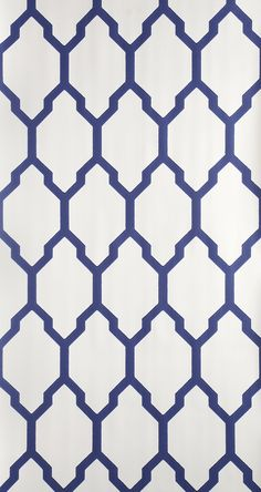 Tessella is a truly geometric paper. Inspired by a 19th century design this interlocking mosaic pattern is  confident and clean. Tessella BP3604 has a ground colour in Pointing No.2003 and pattern printed in Drawing Room Blue No.253 Contact Boxwood Interiors, Houston, Texas for Ordering | www.boxwoodhouston.com | 713-893-0350