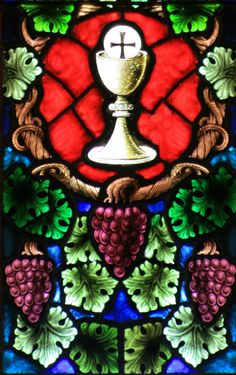 Chalice with Host and Grapes