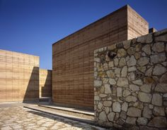Oaxaca School rammed earth, stone