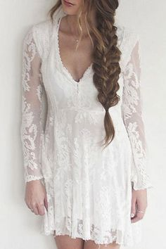 fish braids and lace dress combo | @andwhatelse