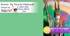 Sensory Motor Fun! 25 Ways to Paint Without a Paintbrush- pinned by @PediaStaff – Please Visit  ht.ly/63sNt for all our pediatric therapy pins