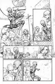 Art from Amazing X-Men #7 by Paco Medina! Reuniting Spider-Man & His Amazing Friends. Spider-Man, Iceman, & Firestar!
