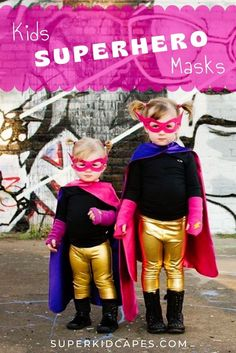 Our kids superhero masks are the perfect accessory for superheroes of all ages. Combine our superhero masks with your favorite superhero cape to create the most unique and well accessorized costume this halloween. We have 14 unique and bright colors to choose from. Our handmade superhero masks are comfortable and come with an adjustable head strap to fit any age and size. Find more costume ideas and inspiration at superkidcapes.com. Unique Costumes, Boy Costumes, Super Hero Costumes, Cool Halloween Costumes, Costume Ideas, Superhero Favors, Superhero Dress Up, Superhero Capes, Birthday Party Goodie Bags