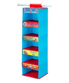 All aboard! Tuck away toys, clutter and little trinkets in this lively Thomas the Tank Engine-inspired shelf organizer. Perfect for that cutie conductor's playroom, this adorable accessory keeps rooms clean and tidy. W x H x DNylonWipe cleanImported Thomas The Train Toys, Thomas The Tank, Hanging Closet Organizer, Closet Organization, Shelf Organizer, Organizers, Wardrobe Carcass, Thomas Bedroom, Train Bedroom