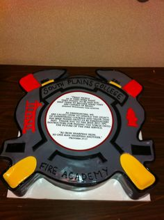 fire academy graduation cake | ... Fire Academy, this was a replica of plaque given to the Academy by its