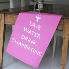 """If this said, """"save water, drink wine,"""" it could be my motto for life."""