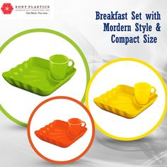 #Breakfast set with modern style & compact size Visit http://www.sonyplastics.com/ for bulk inquiries