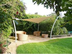 I have one of these sun tarps; a gift from a riding buddy.  We just need to get our patio area figured out and done!
